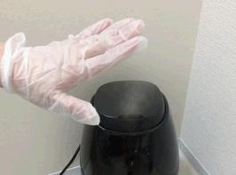 超音波噴霧器により除菌。熱くありません。
